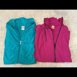 Two Lucy Power Athletic Zip Up Jackets